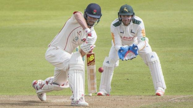 Tom Smith was stumped by stand-in wicketkeeper Riki Wessels to earn Imran Tahir his third wicket of the day