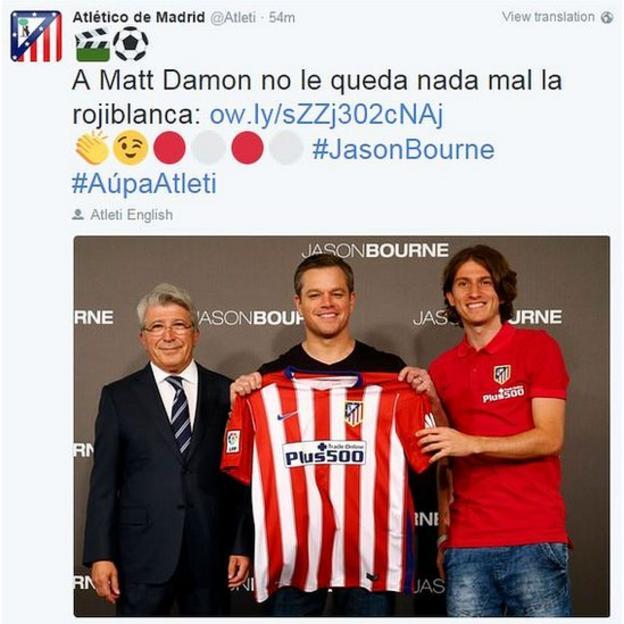 Atletico tweet