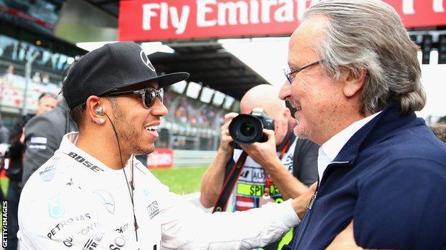 Mansour Ojjeh en Lewis Hamilton