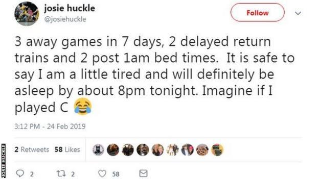Josie Huckle tweet