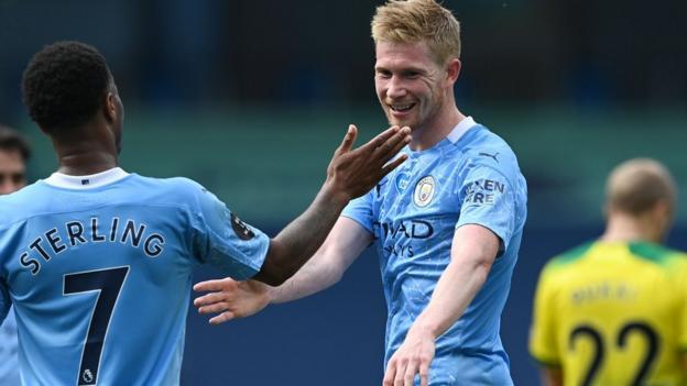 Manchester City v Norwich City - BBC Sport