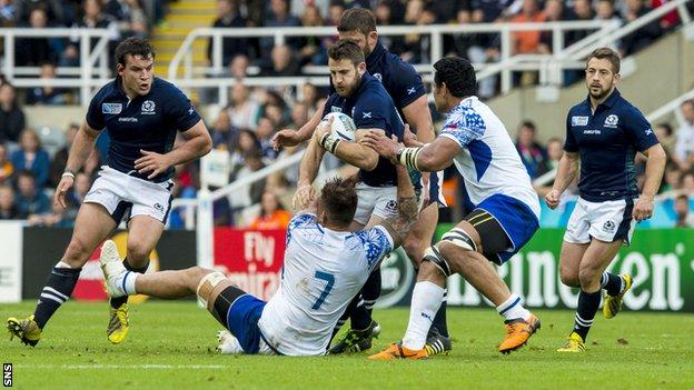 Scotland and Samoa players