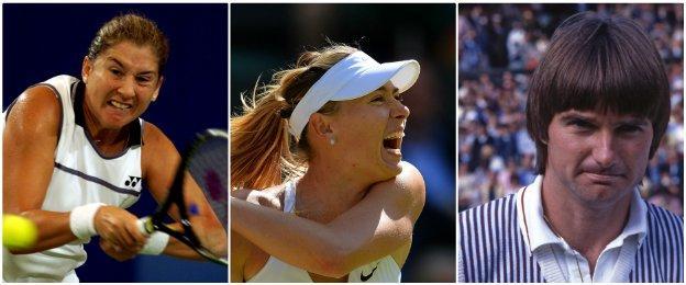 Monica Seles, Maria Sharapova and Jimmy Connors