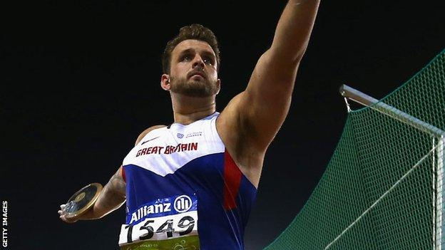 Aled Davies won Paralympic gold in the F42 discus at London 2012