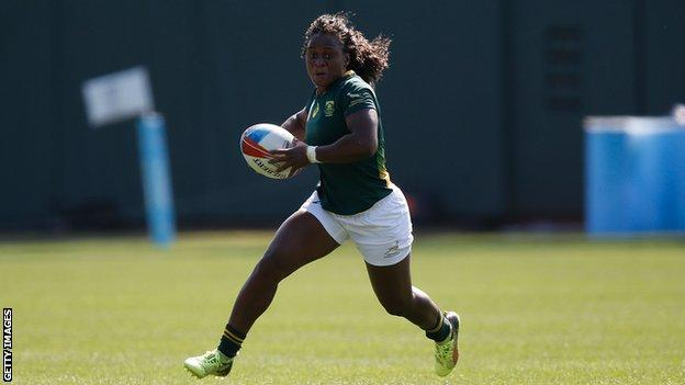 South Africa's Zintle Mpupha