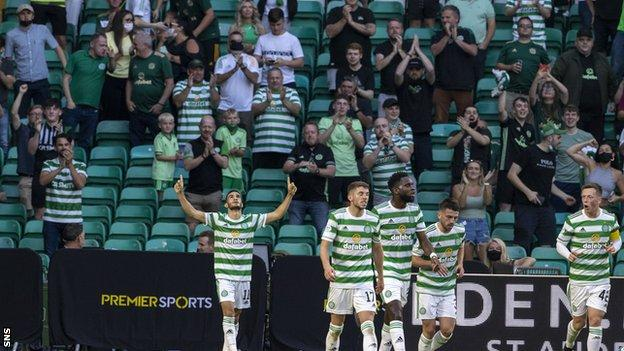 Celtic were allowed 9,000 fans for Tuesday's Champions League qualifier with Midtyylland
