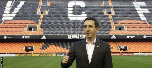 Gary Neville unveiled as the new Valencia coach