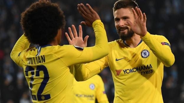 Malmo 1-2 Chelsea in Europa League last 32: Blues claim narrow victory in Sweden thumbnail