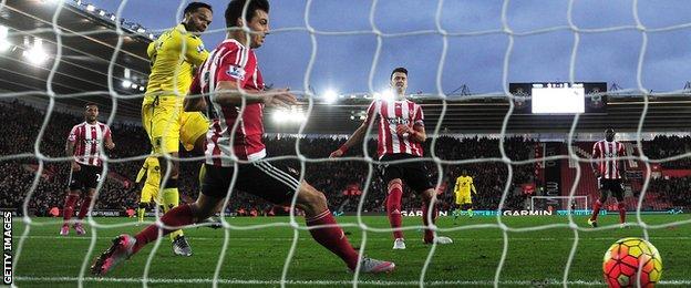 Joleon Lescott scores for Aston Villa at Southampton