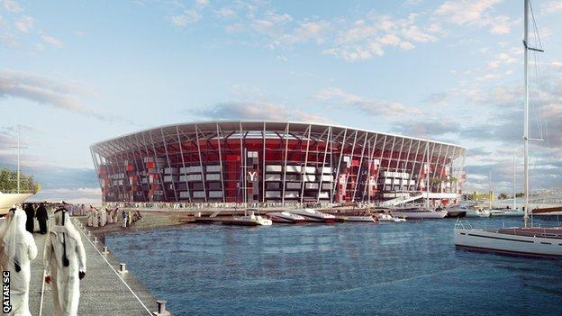Ras Abu Aboud Stadium will be the first fully demountable tournament venue in World Cup history. It will be built out of shipping containers and other modular building blocks that will be repurposed post-tournament into smaller sports and non-sports venues