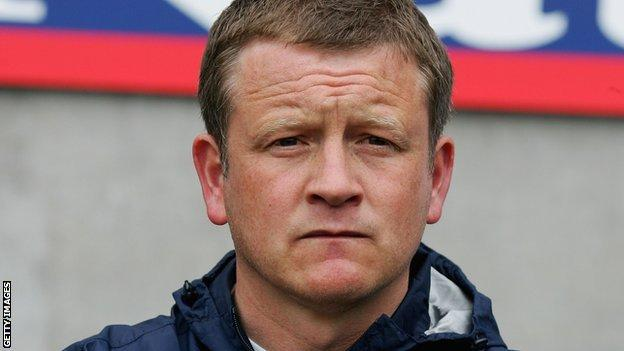Chris Wilder as manager of Halifax Town