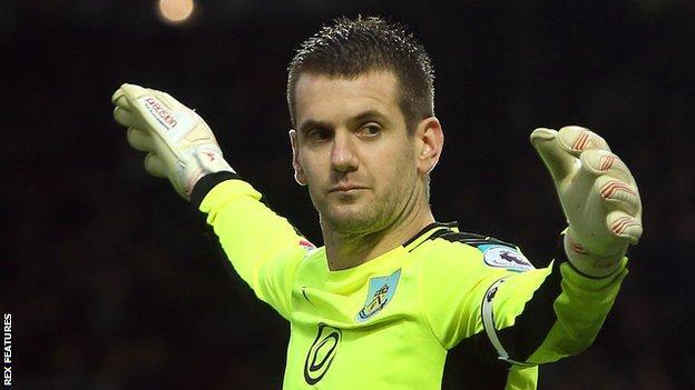 Burnley keeper Tom Heaton