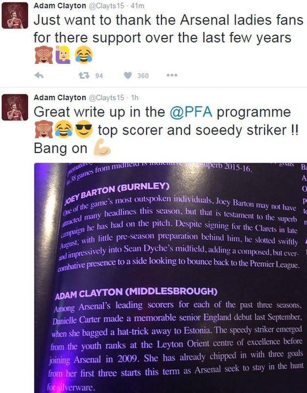 Adam Clayton saw the funny side of the PFA mistake