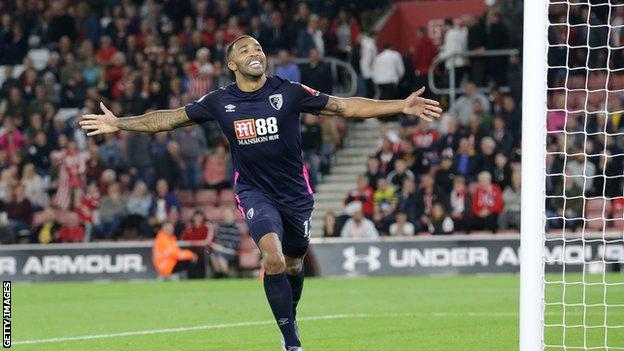 Callum Wilson celebrating a goal for Bournemouth