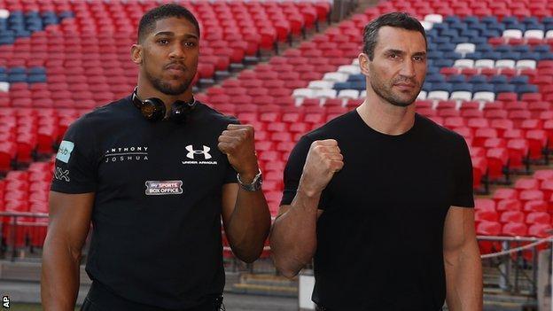 Anthony Joshua will defend his unbeaten record against Wladimir Klitschko at Wembley