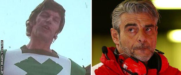 Green Cross Code Man and Maurizio Arrivabene