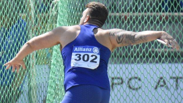 Paralympian Aled Davies