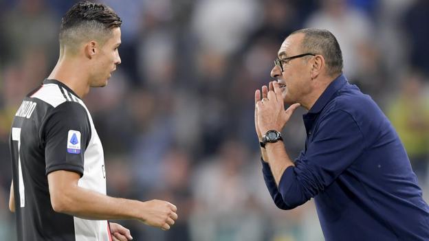 Juventus v Atletico Madrid: Ronaldo relationship is 'good' - Sarri thumbnail