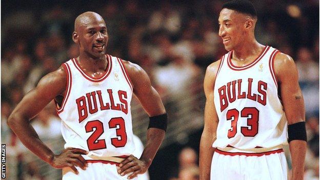 Michael Jordan and Scottie Pippen, 1997