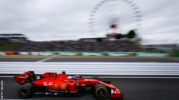 A Formula 1 car at Suzuka