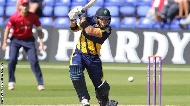 Colin Ingram in action for Glamorgan during a one-day match