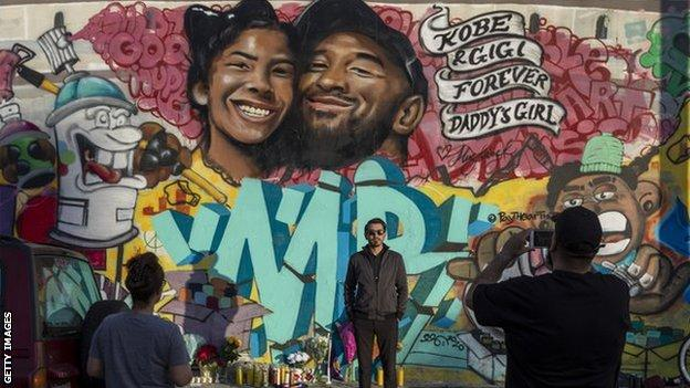 Mural for Kobe Bryant and daughter, LA