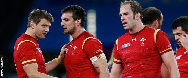 Dan Biggar, Sam Warburton and Alun Wyn Jones