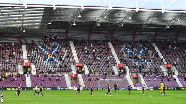 Hearts will have more than 4,500 fans backing them against Celtic on Saturday evening