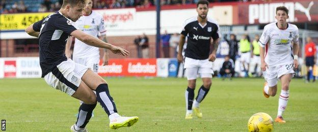 Dundee may have thought their chance to rescue a point was gone when Greg Stewart had his penalty saved by Owain Fon Williams