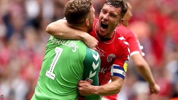 Charlton Athletic celebrate