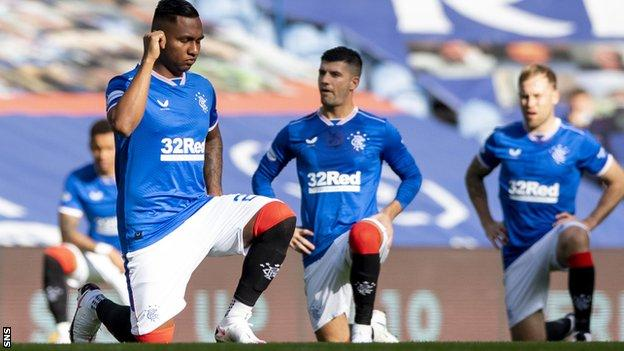 Rangers players will continue to take the knew as the new Premiership season gets under way