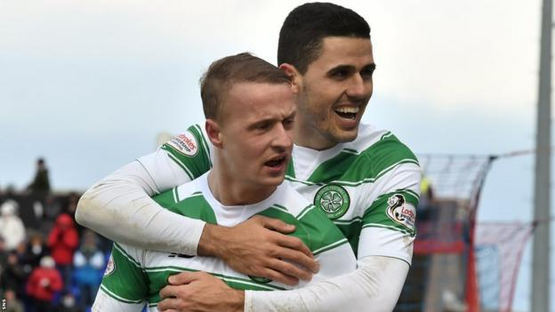 Celtic players Leigh Griffiths and Tom Rogic
