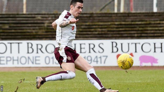 Jamie Walker slots home for Hearts