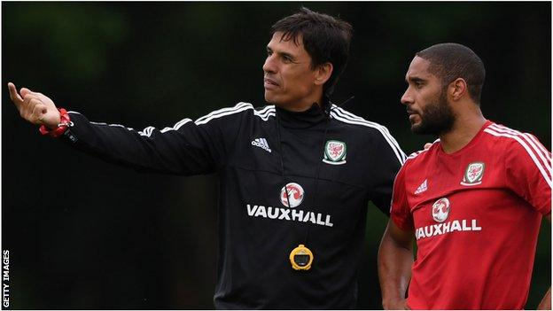 Chris Coleman and his captain Ashley Williams