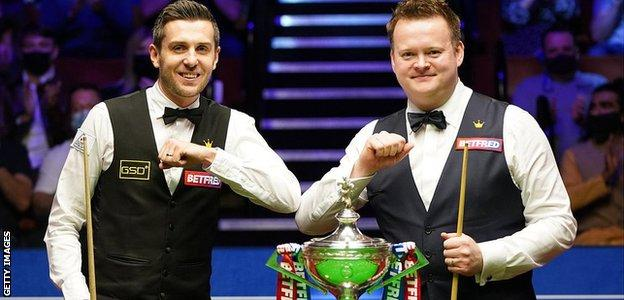 Mark Selby (left) and Shaun Murphy
