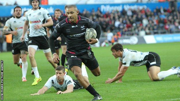 Wing Eli Walker led the way for Ospreys with a try in either half