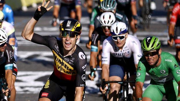 Mark Cavendish and Wout van Aert