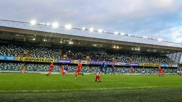 All football activity in Northern Ireland has been suspended since March