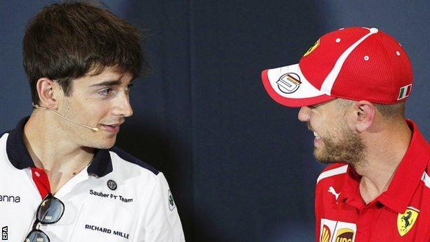 Charles Leclerc and Sebastian Vettel are set to be team-mate next season