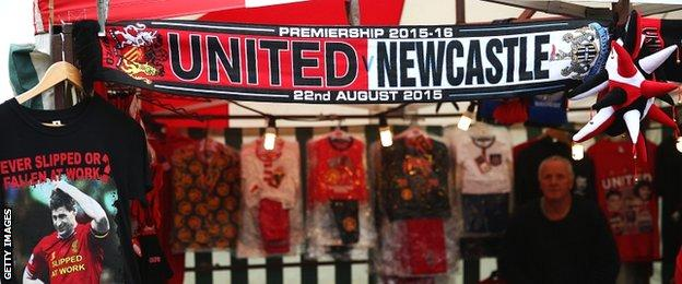 Fans merchandise is often geared towards overseas tourism