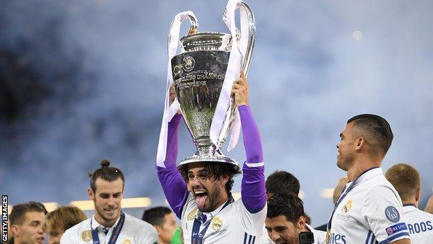 Isco won his third Champions League final with Real Madrid
