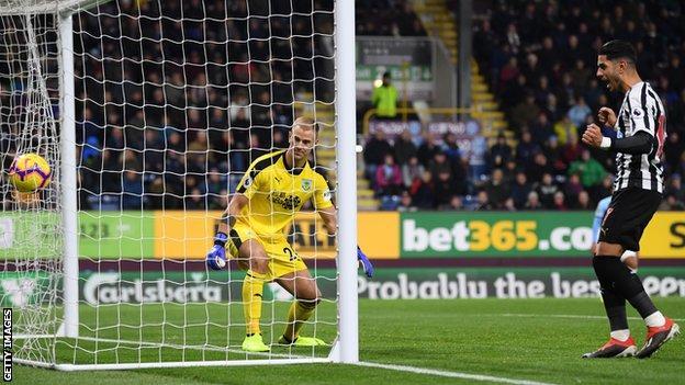 Newcastle score their second goal through Ciaran Clark
