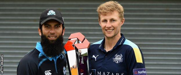 Moeen Ali (left) and Joe Root (right)
