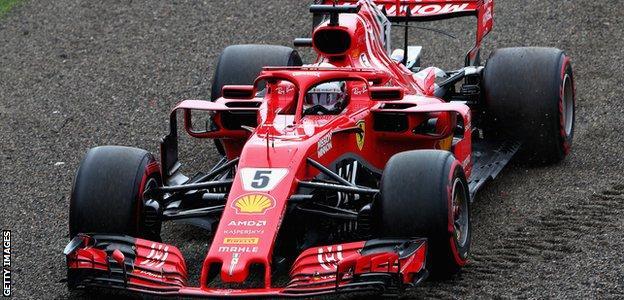 Sebastian Vettel's Ferrari at the Japanese Grand Prix