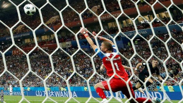 Perisic fired his winner left footed across the keeper
