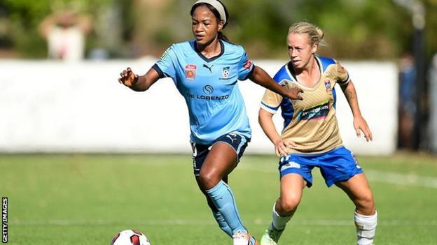 Nigeria forward Francisca Ordega while playing for Sydney