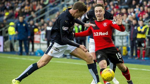 Falkirk and Rangers players
