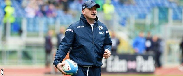 Gregor Townsend oversees Scotland's warm-up in Rome