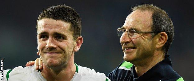 Robbie Brady and Republic of Ireland manager Martin O'Neill