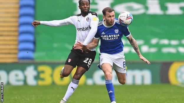 Cardiff's Joe Ralls battles to retain possession